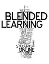 Word Cloud Blended Learning Stock Photos