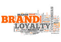 Word cloud brand loyalty with wording Royalty Free Stock Photo