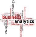 Word cloud - business analytics Stock Image