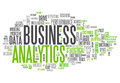 Word cloud business analytics with related tags Royalty Free Stock Images