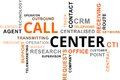 Word cloud call center a of related items Royalty Free Stock Photos