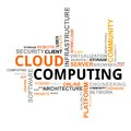 Word cloud - cloud computing Stock Photos