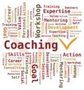 Word Cloud - Coaching Royalty Free Stock Photo