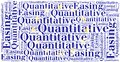 Word cloud concept related to quantitative easing Royalty Free Stock Photo
