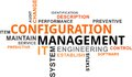 Word cloud - configuration management Royalty Free Stock Photo
