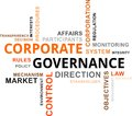 Word cloud corporate governance a of related items Stock Photos