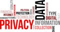 Word cloud data privacy a of related items Royalty Free Stock Photo