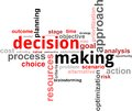 Word cloud - decision making Stock Image