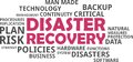 Word cloud - disaster recovery Royalty Free Stock Photo