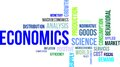 Word cloud economics a of related items Stock Photo