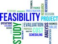 Word cloud feasibility study a of related items Royalty Free Stock Photo