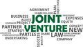 Word cloud - joint venture Royalty Free Stock Photo
