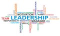 Word cloud - leadership Stock Images