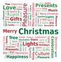 Word Cloud - Merry Christmas Royalty Free Stock Photo