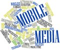 Word cloud for Mobile Media Stock Images