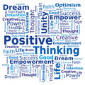 Word Cloud - Positive Thinking Stock Photo