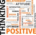 Word cloud positive thinking related items Royalty Free Stock Photo