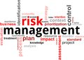 Word cloud - risk management Stock Photo
