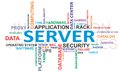 Word cloud - server Stock Photo