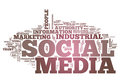Word cloud social media with related tags Stock Images