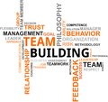 Word cloud - team building Stock Images