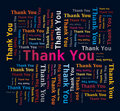 Word Cloud  - Thank You - Multicolored Letters Royalty Free Stock Photo