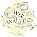 Word cloud for Web analytics Stock Photography