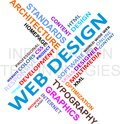 Word cloud - web design Stock Photo