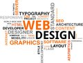 Word cloud - web design Royalty Free Stock Photos