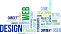 Word cloud web design a of related items Royalty Free Stock Images