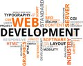Word cloud - web development Royalty Free Stock Image