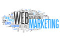 Word cloud web marketing with related tags Stock Photo