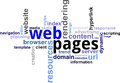 Word cloud - web pages Stock Images