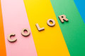 Word Color on bright colorful background