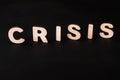 Word Crisis on black background