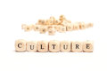 Word with dice culture Royalty Free Stock Photo