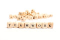 Word with dice teamwork Royalty Free Stock Photo