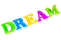 Word dream Royalty Free Stock Photo