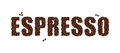 The word ESPRESSO written with Coffee Beans isolated on a white