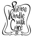 Word expression for please handle with care