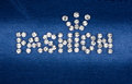 The word fashion made by ​​with rhinestones can be used as background Royalty Free Stock Photography