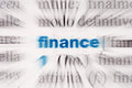 Word finance the in dictionary Royalty Free Stock Photography