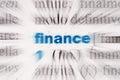 Image : Word finance transition