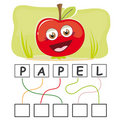 Word game with apple Royalty Free Stock Images