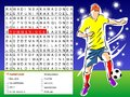 Word search game - find the nine players soccer Stock Images