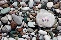 The word Goa on the pebbles Royalty Free Stock Photo