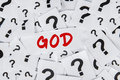 Word of God With Question Marks Royalty Free Stock Photo