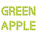 Word green apple Stock Image