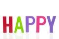 Word happy Royalty Free Stock Photo