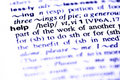 The word help  in a dictionary Royalty Free Stock Photos